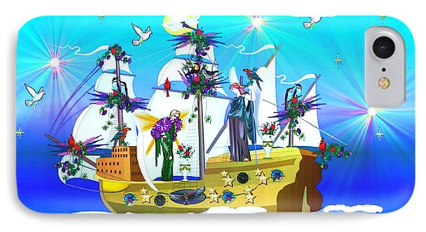 IPhone Case featuring the digital art Angelic Voyage by Mary Anne Ritchie