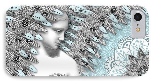 Angelica Hiberna - Angel Of Winter Phone Case by Christopher Beikmann