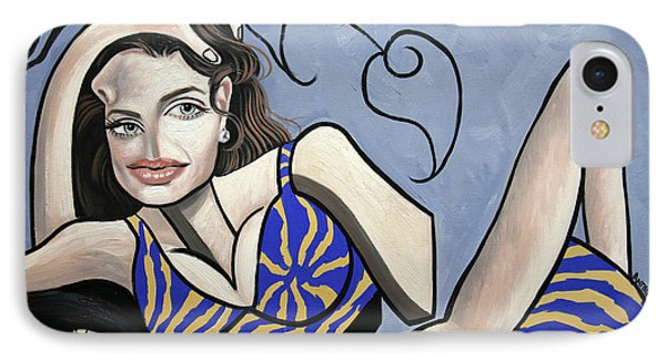 Angelina Jolie You Been Cubed Phone Case by Anthony Falbo
