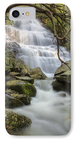 Angels At Benton Waterfall Phone Case by Debra and Dave Vanderlaan