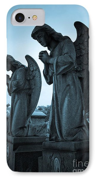 Angels In Prayer Phone Case by Amy Cicconi