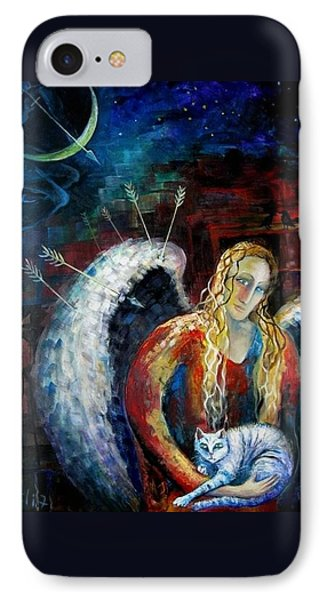 Angels Of Zodiac. Sagittarius The Archer Centaur Phone Case by Elisheva Nesis