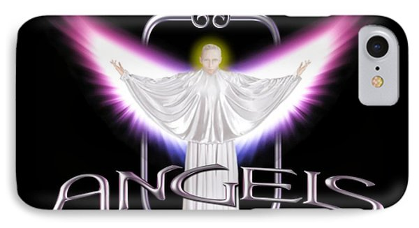 IPhone Case featuring the digital art Angels by Scott Ross