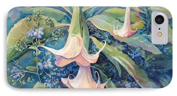 Angels Trumpets II Phone Case by Marilyn Young