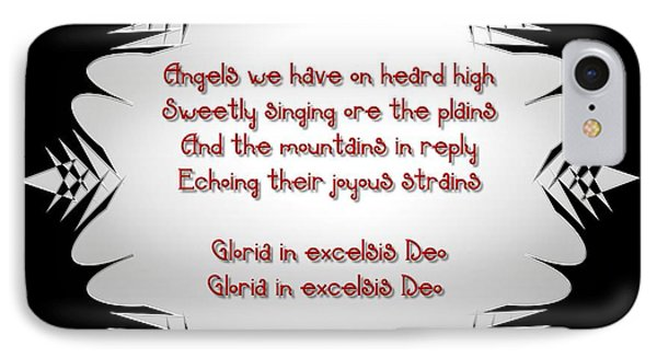 Angels We Have Heard On High Snowflake Phone Case by Rose Santuci-Sofranko
