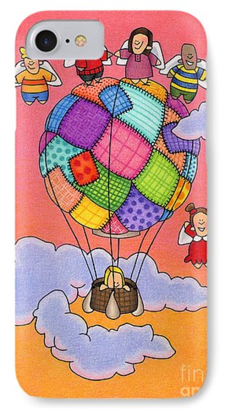 Angels With Hot Air Balloon Phone Case by Sarah Batalka