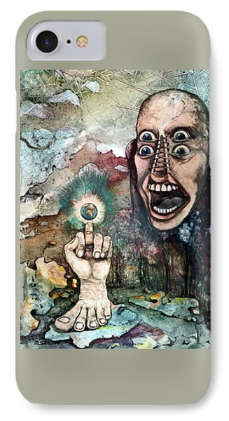 IPhone Case featuring the painting Anger Of Archon by Mikhail Savchenko