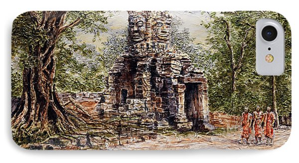 Angkor Temple Gate IPhone Case by Joey Agbayani
