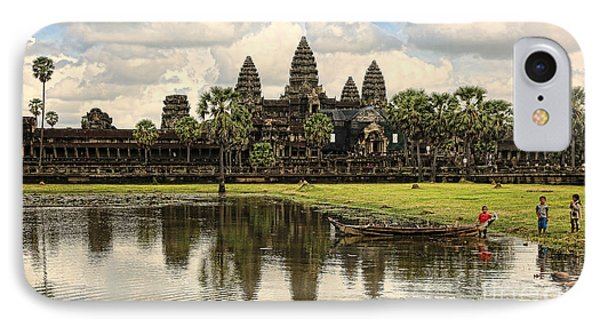 Angkor Wat I IPhone Case by Chuck Kuhn