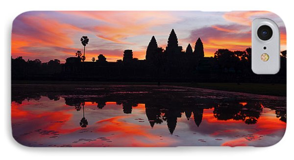 Angkor Wat Sunrise IPhone Case by Alexey Stiop