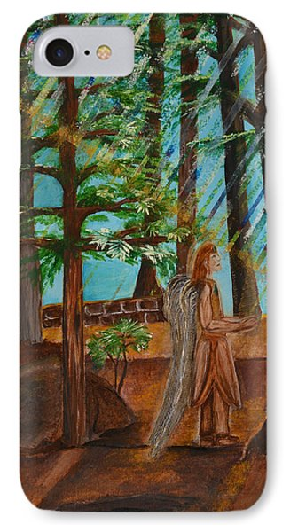 IPhone Case featuring the painting Angle In Idyllwild by Cassie Sears
