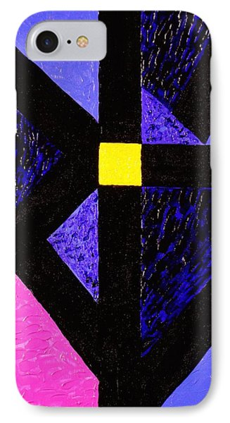 IPhone Case featuring the painting Angles by Celeste Manning