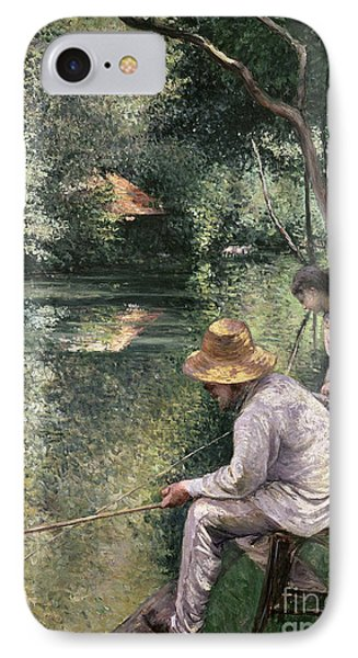 Angling IPhone Case by Gustave Caillebotte