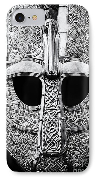 Anglo Saxon Helmet IPhone Case by Tim Gainey