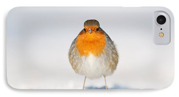 Angry Bird _ Robin In The Snow IPhone Case by Roeselien Raimond