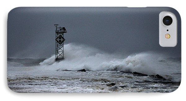 IPhone Case featuring the photograph Angry Ocean In Ocean City by Bill Swartwout