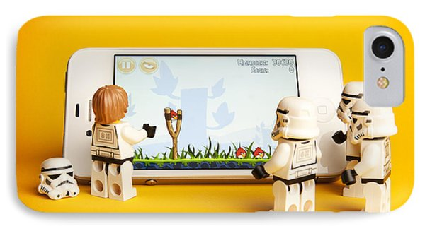 Angry Birds Storm Troopers IPhone Case by Samuel Whitton