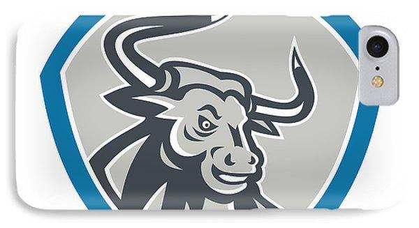 Angry Texas Longhorn Bull Shield Phone Case by Aloysius Patrimonio