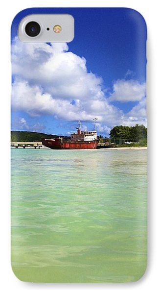 Anguilla Mr. Teds Boat Phone Case by Jennifer Lamanca Kaufman