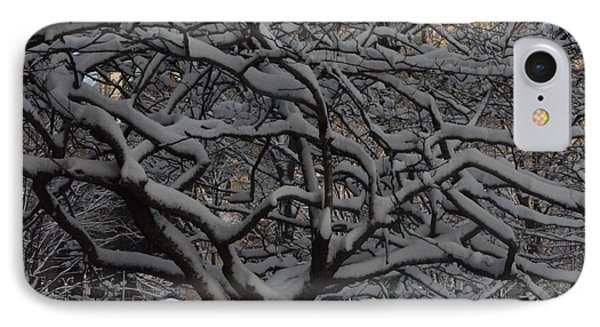 IPhone Case featuring the photograph Angular Tree With Snow by Winifred Butler
