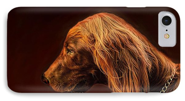 IPhone Case featuring the photograph Angus Irish Red Setter by Wallaroo Images
