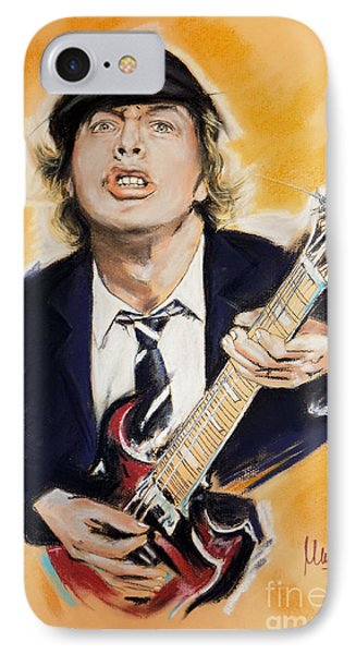Angus Young IPhone Case by Melanie D
