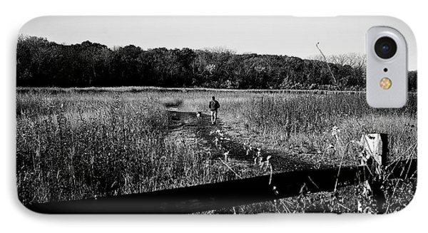 A Man And His Dog IPhone Case by Frank J Casella