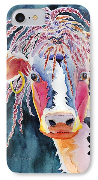 Animal - Cow - Cowabonga IPhone Case by Deb  Harclerode
