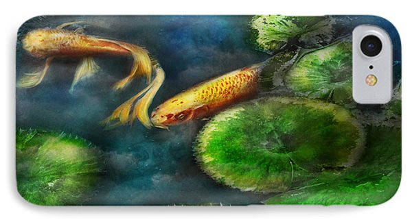 Animal - Fish - The Shy Fish  IPhone Case by Mike Savad