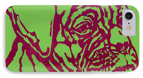 Animal Pop Art Etching Poster - Dog 13 IPhone Case