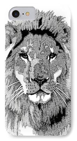 Animal Prints - Proud Lion - By Sharon Cummings IPhone Case