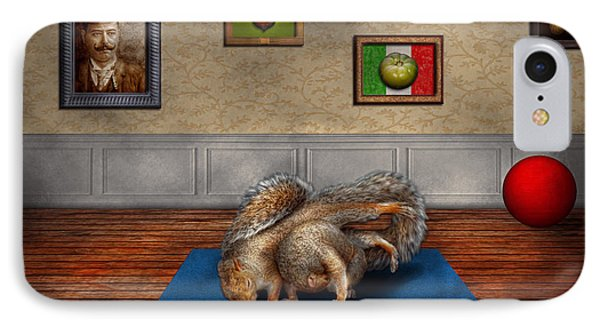 Animal - Squirrel - And Stretch Two Three Four Phone Case by Mike Savad