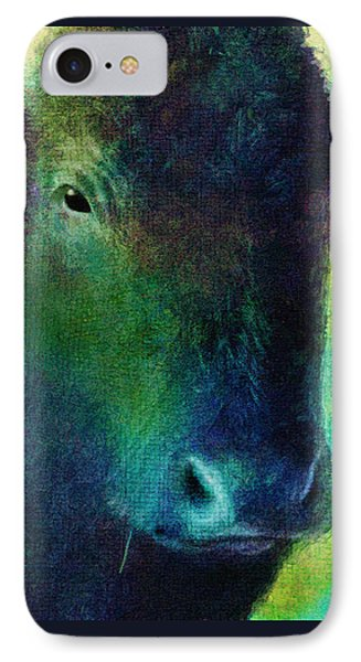 animals - cows- Black Cow Phone Case by Ann Powell