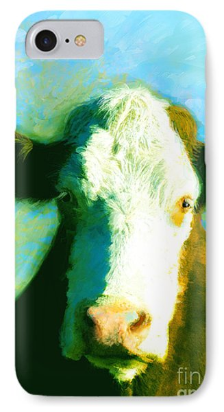 Animals Cows Sun And Shadow Painting By Ann Powell IPhone Case by Ann Powell