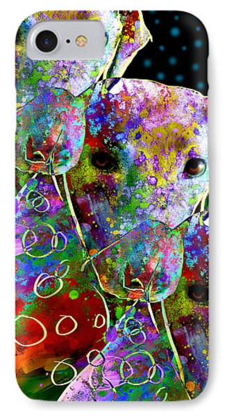 animals - dogs- Colorful Dog Collage Phone Case by Ann Powell