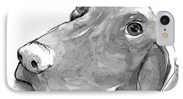 animals - dogs - Feed Me Please Phone Case by Ann Powell