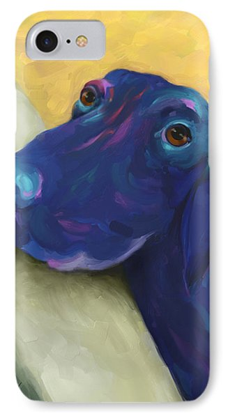 Animals Dogs Labrador Retriever Begging IPhone Case by Ann Powell