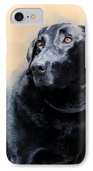 animals - dogs- Loyal Friend IPhone Case by Ann Powell