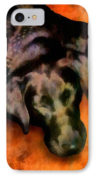 animals- dogs Sleeping Dog Phone Case by Ann Powell