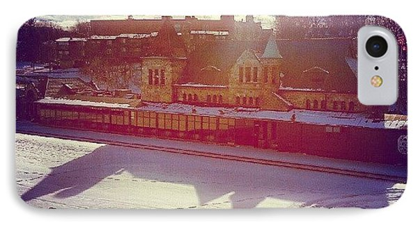 Ann Arbor Train Station IPhone Case by Jill Tuinier