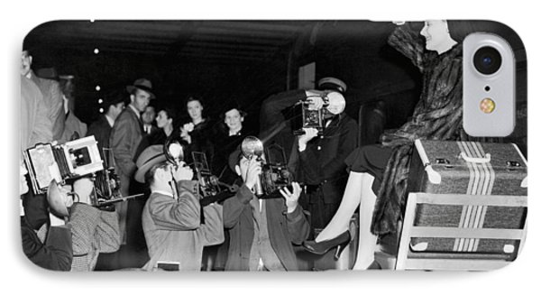 Ann Sheridan Arrives In Ny IPhone Case by Underwood Archives