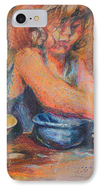 Anna And Mixing Bowls Phone Case by Nancy Mauerman
