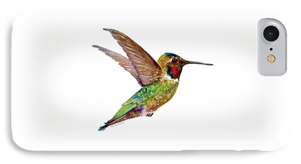 Anna Hummingbird IPhone 7 Case by Amy Kirkpatrick