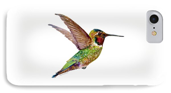 Anna Hummingbird IPhone Case by Amy Kirkpatrick