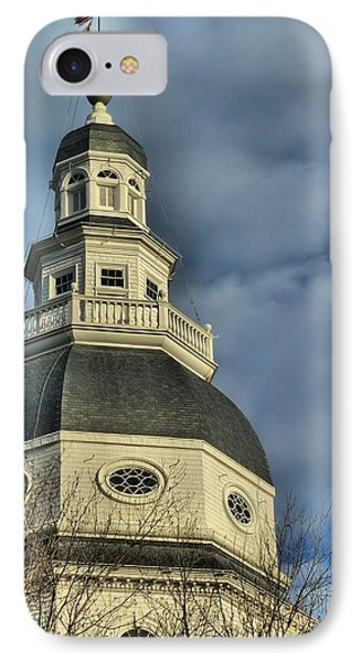 Annapolis Statehouse IPhone Case by Jennifer Wheatley Wolf