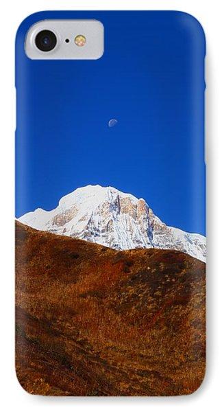 Annapurna South Moon Rise IPhone Case