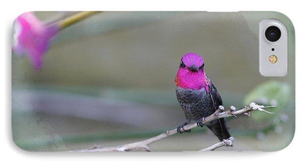 Anna's Hummingbird - Male Phone Case by Angela A Stanton