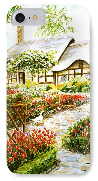 IPhone Case featuring the painting Anne Hathaway's Cottage At Stratford Upon Avon by Dee Davis