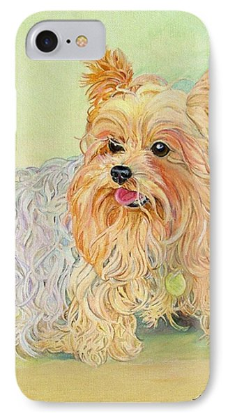 Annie's Yorkie IPhone Case by Kimberly McSparran