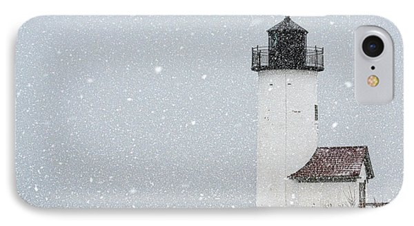 Annisquam Light-snow Storm 2 IPhone Case